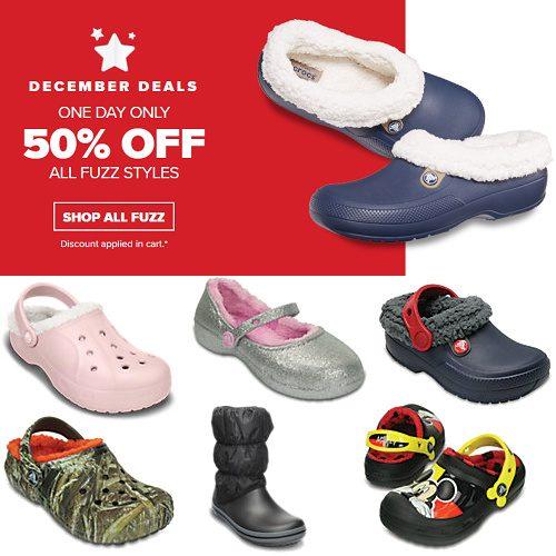 Crocs : 50% off Fuzz Styles