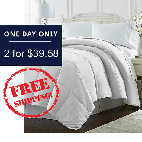 Up to 88% off Down Alternative Comforters : 2 for $39.58 + Free S/H
