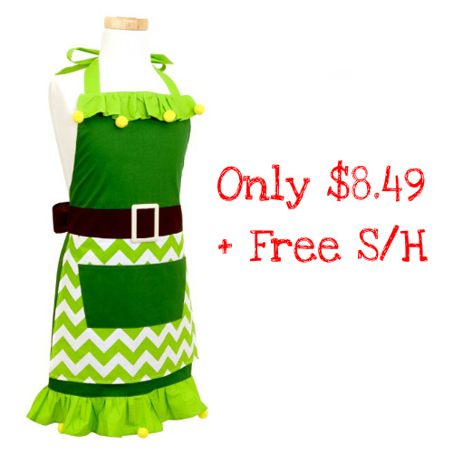 57% off Girl's Elf Apron : $8.49 + Free S/H