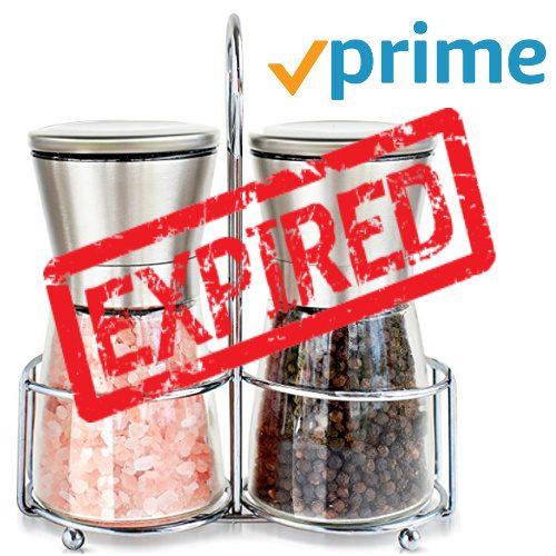 46% off Stainless Steel Salt and Pepper Grinder Set : Only $10
