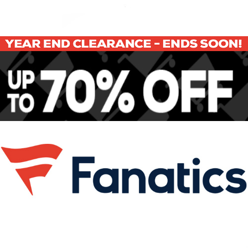 Fanatics : Up to 70% off + Free S/H