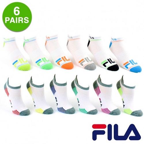 40% off 6-PK of Fila Ankle Socks : $5.99 + Free S/H