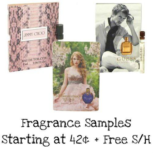 Fragrance Samples : Starting at 42¢ + Free S/H