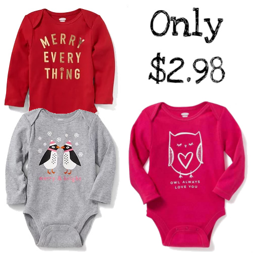 70% off Infant & Toddler Bodysuits : Only $2.98