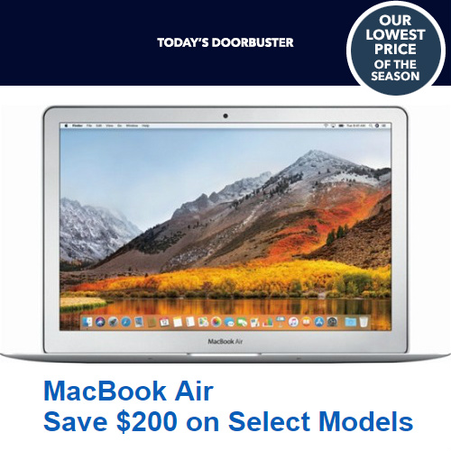 Latest Model MacBook Air Computers : $200 off + Free S/H