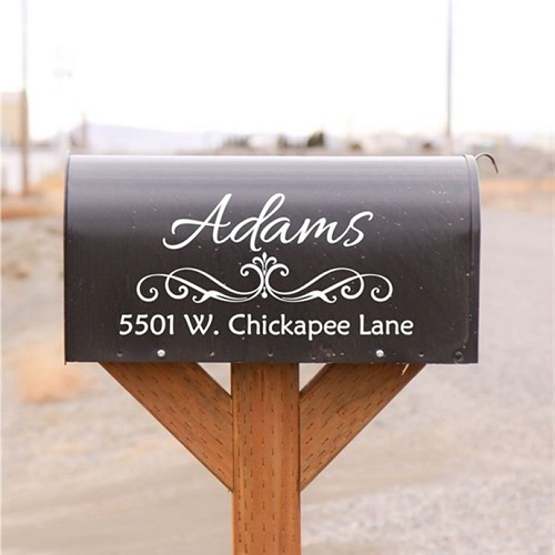 42% off Custom Mailbox Name and Address Decals : Only $6.99