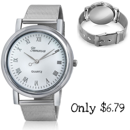 60% off Men's Alloy Mesh Band Watch : Only $6.79
