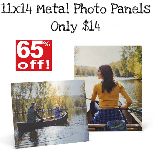 65% off 11×14 Custom Metal Photo Panels : Only $14