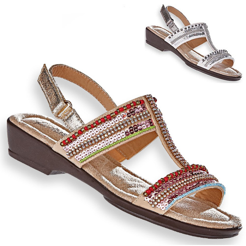 82% off Women's Beacon Beaded Sandals : Only $7.98 + Free S/H