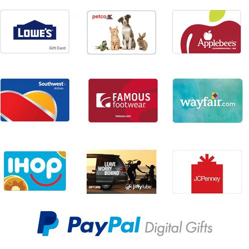Gift Cards : 10-20% off + Free Email Delivery