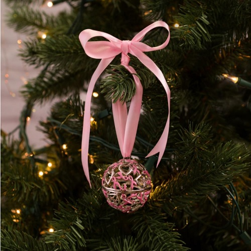 46% off Pink Ribbons and Hearts Ornament : Only $7