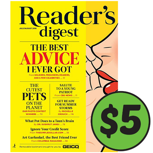 Reader's Digest Subscription : Only $5
