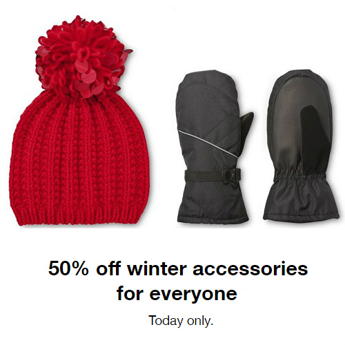 Target : 50% off + Free S/H on Winter Accessories