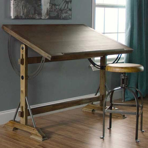 64% off Wood and Metal Drafting Table : Only $125.99