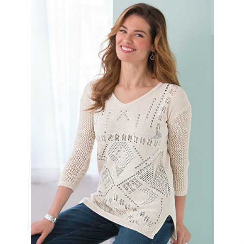 85% off Women's Southwest Studded Sweater : $6.87 + Free S/H