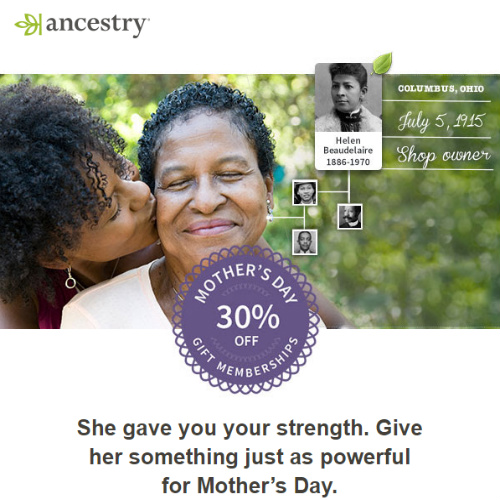 30% off Ancestry.com Gift Memberships : Only $69 & $129