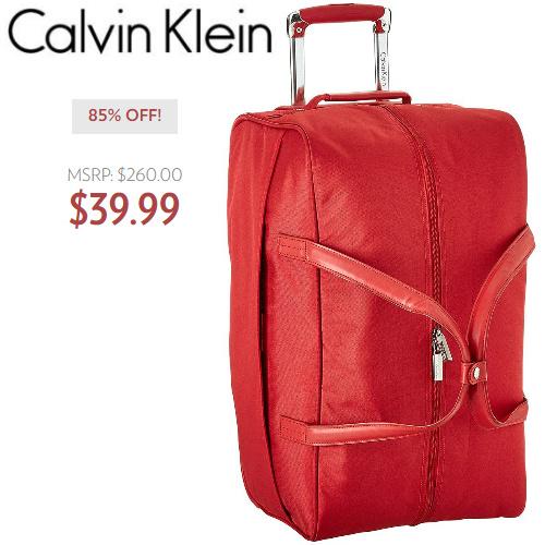 85% off Calvin Klein Wheeled Duffel : Only $39.99