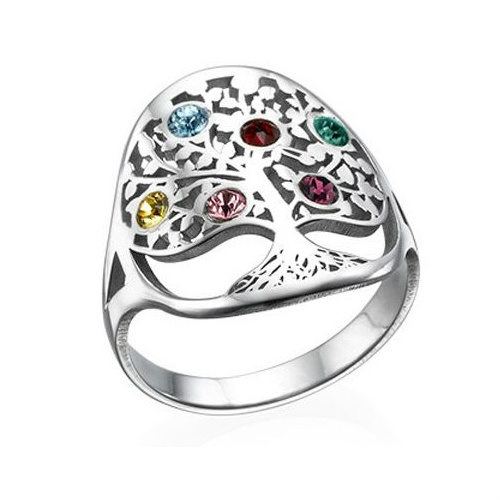 38% off Family Tree Birthstone Ring : Only $53