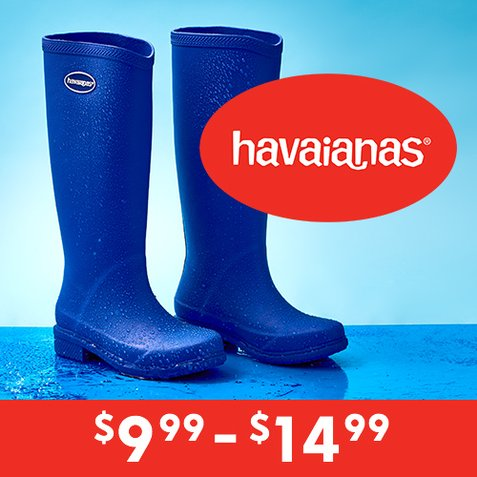 Up to 81% off Havaianas Rain Boots : Only $9.99 & $14.99