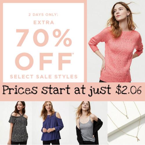 LOFT : Extra 70% off Sale items