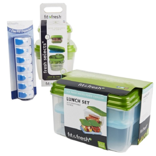 57% off Portion Control Lunch Kit w/Pill Organizer : Only $12.75