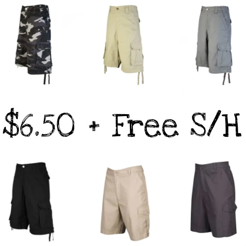 Up to 83% off Men's Cargo Shorts : $6.50 + Free S/H