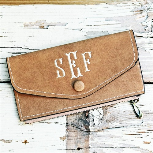 66% off Monogrammed Wallet : Only $6.99