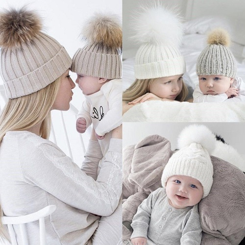 64% off Mother/Child Pom Pom Beanies : Only $14.39