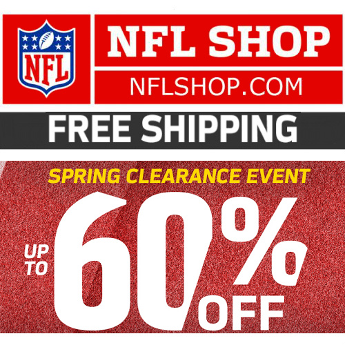NFL Shop : Up to 60% off + Free S/H $25
