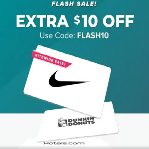 Raise : Up to 52% off Gift Cards + $10 off $100