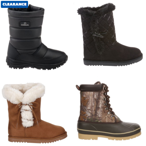 Up to 75% off Snow Boots : Starting at $7.49