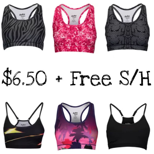 Up to 74% off Women's Sports Bras : $6.50 + Free S/H