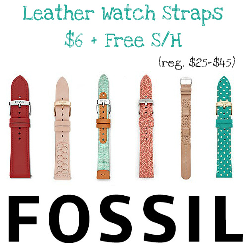 Up to 86% off Women's Leather Watch Bands : $6 + Free S/H