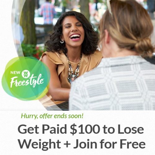 Weight Watchers : Get Paid $100 to Lose Weight + Join Free