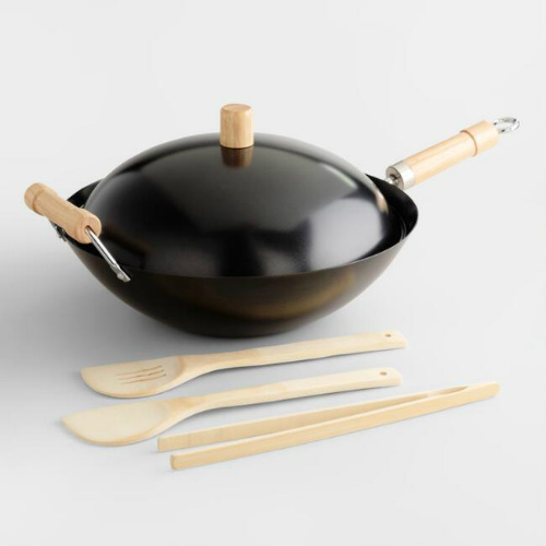 55% off 5-PC Wok Set : Only $8.99