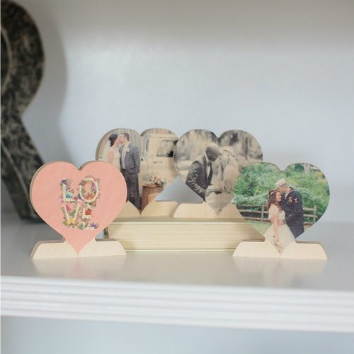 67% off Custom Wood Photo Hearts : 2 for $19.98 + Free S/H