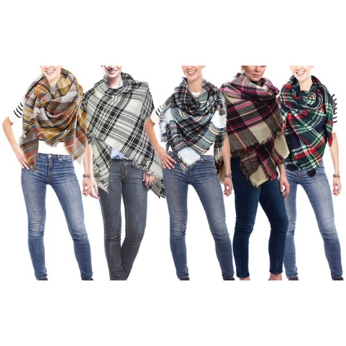82% off Oversized Blanket Scarf : $10.99 + Free S/H
