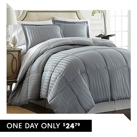 Up to 85% off 3-PC Down Alternative Comforter Sets : Only $24.79 + Free S/H