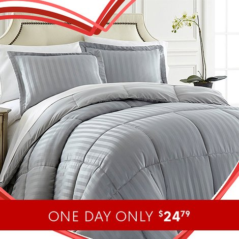 Up to 85% off 3-PC Down Alternative Comforter Sets : Only $24.79