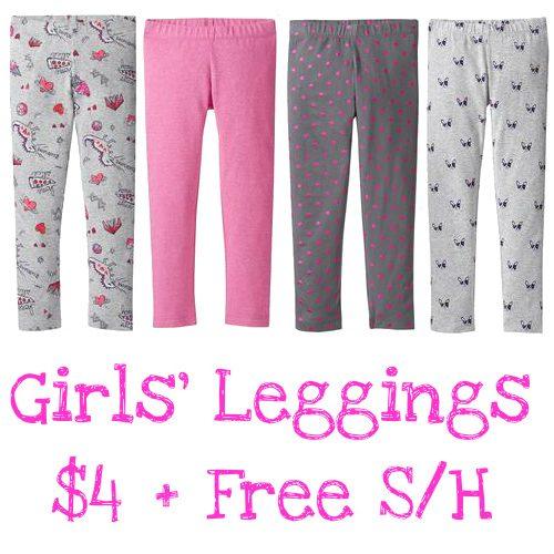 80% off Girls' Leggings : Only $4 + Free S/H