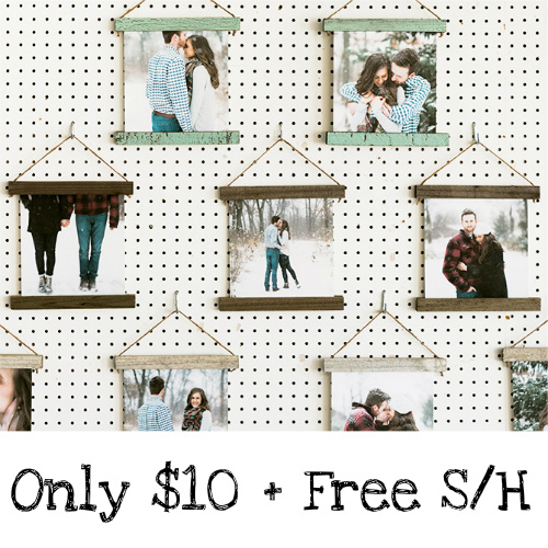 84% off 8×8 Canvas Hanging Print : Only $10 + Free S/H