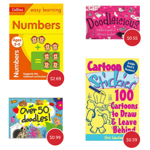 Kids' Activity Books : Up to 92% off + Extra 10% off