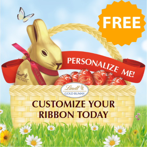 Lindt : Free Personalized Ribbons