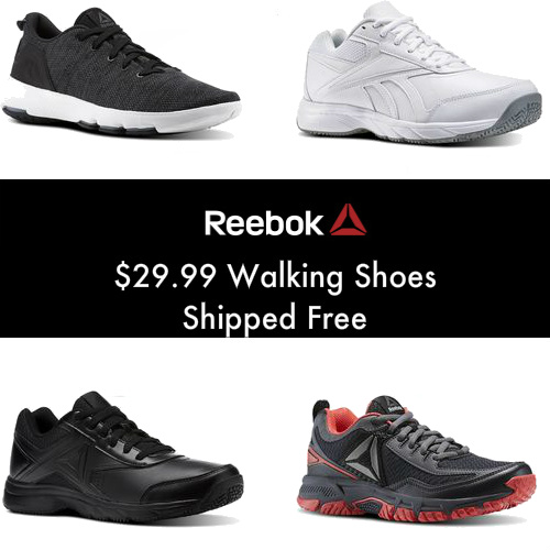 Up to 62% off Reebok Walking Shoes : Only $29.99 + Free S/H