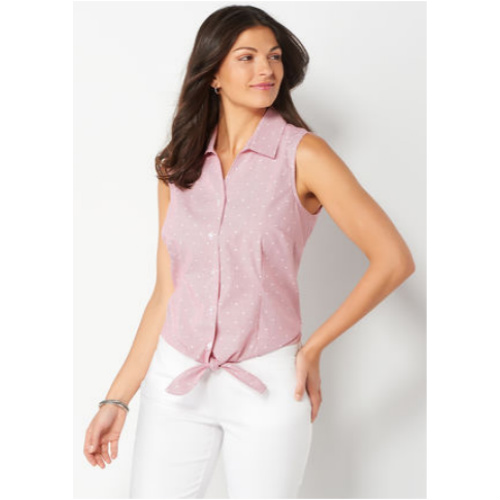 88% off Women's Sleeveless Tie Front Top : $4.99 + Free S/H