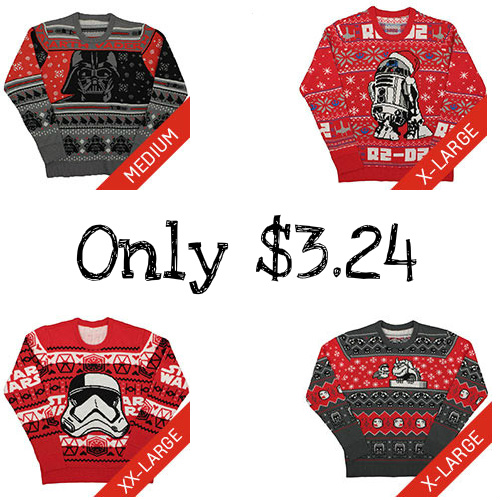 75% off Star Wars & Super Mario Holiday Sweaters : Only $3.24