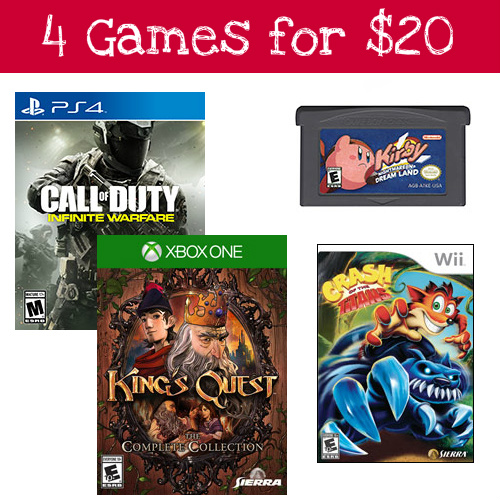 4 Pre-Owned Video Games : Only $20