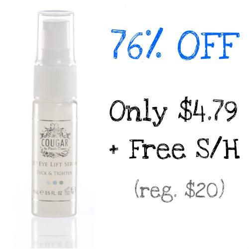 76% off 3D Eye Lift Serum : Only $4.79 + Free S/H