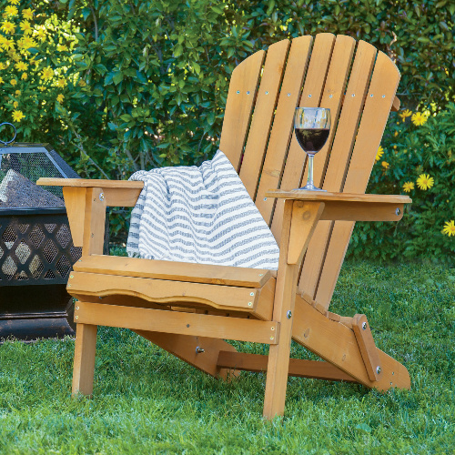 60% Off Wood Adirondack Chair : Only $39.99 + Free S/H