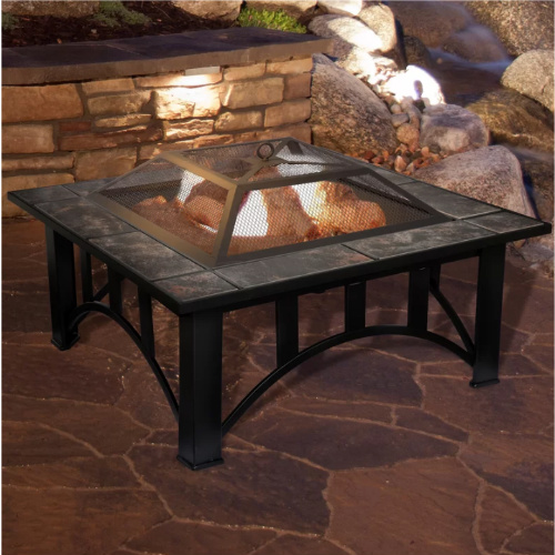 63% off Wood Burning Fire Pit Table : Only $103.99 + Free S/H